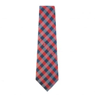 MLB LA Angels Red & Blue Checkered Men's Tie 6020