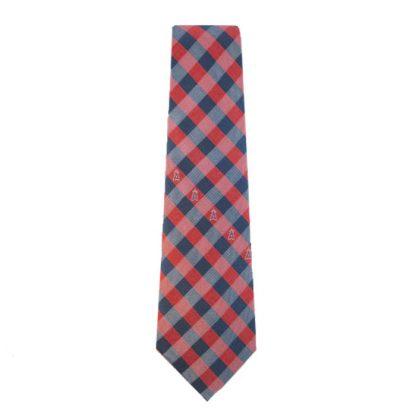 MLB LA Angels Red & Blue Checkered Men's Tie 6020