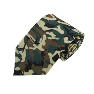 Green Camoflage Men's Tie 7980