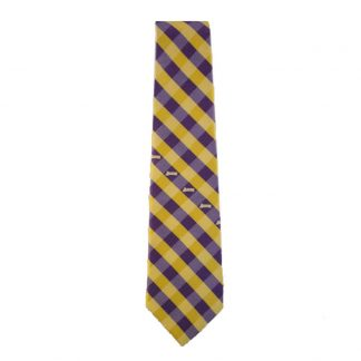 NBA LA Lakers Purple, Gold & White Checkered Men's Tie 8057