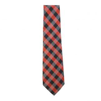 NFL Arizona Cardinals Black, Cardinal Red & White Plaid Men's Tie 8087