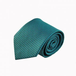 Teal Solid Tone on Tone Men's Tie 8969-0