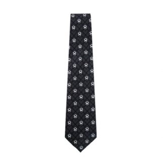 Charcoal Plaid Soccer Balls Men's Tie 9709