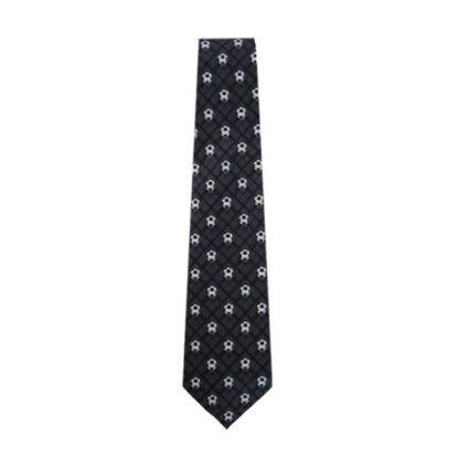 Charcoal Plaid Soccer Balls Men's Tie 9709
