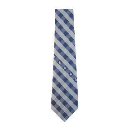 MLB LA Dodgers Blue & Silver Checker Men's Tie 9769