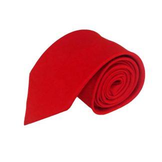 Red SolidMen's Tie 9970