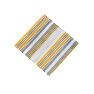 Yellow & Gray Striped Pocket Square 11166-0