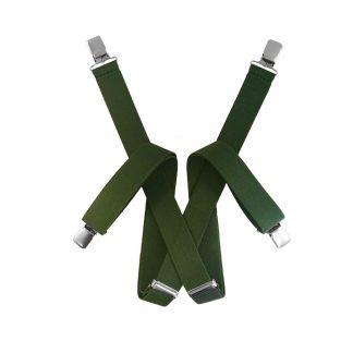 Olive Green Suspenders 2072