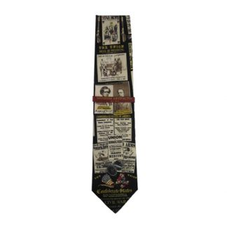 History of the Civil War Men's Silk Tie 5055