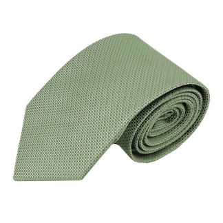Green Solid Basket Weave Men's Tie 5169