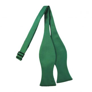Solid Emerald Green Self Tie Bow Tie 6290