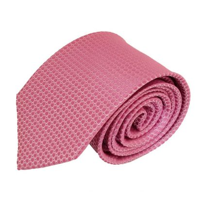 Shiny Pink & White Small Square Pattern Men's Tie 9208