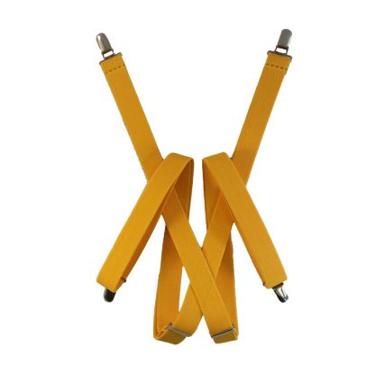 """Sunny Yellow Solid 1"""" Suspenders 9909"""