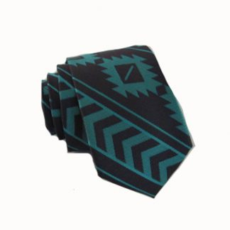 Teal, Gray Aztec Skinny Men's Tie 11350-0