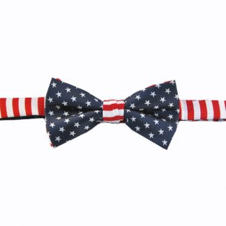 Navy & Red Stars Banded Bow Tie 7499-0