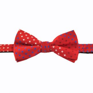 Red Stars Banded Bow Tie 9668-0