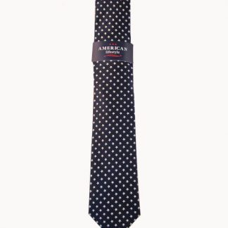 Navy w/ White Stars Men's Tie 9670-0