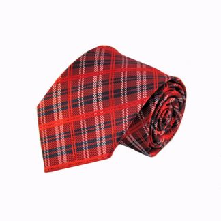 Red & Navy Plaid Men's Tie 10278-0