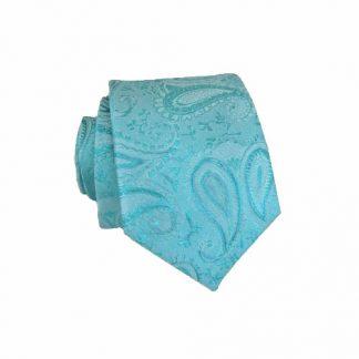 Turquoise Paisley Tone on Tone Skinny Men's Tie 10679-0
