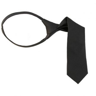 "11"" Boy's Charcoal Zipper Tie 1069"