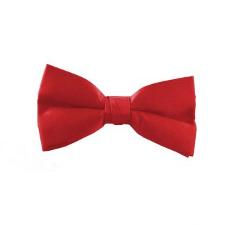 Solid Red Clip On Bow Tie 11099