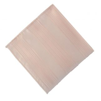Nude Pink Tone on Tone Stripe Pocket Square 11180