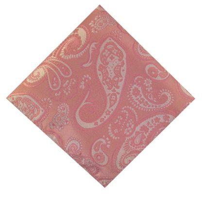 Pink Paisley Pocket Square 11181