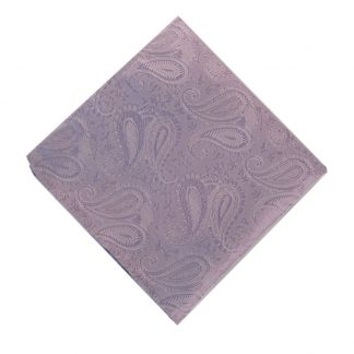 Solid Lavender Paisley Pocket Square 11187