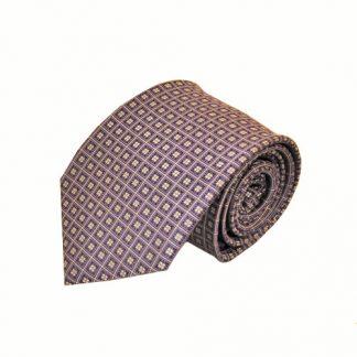 Purple & Gray Small Square Men's Tie 11509-0