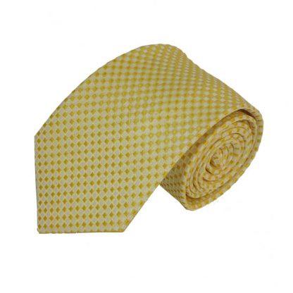 Yellow Small Diamond Men's Tie 1539
