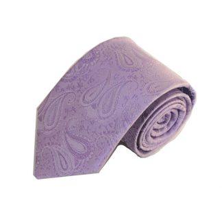 Lavender Paisley Tone on Tone Men's Tie 1549