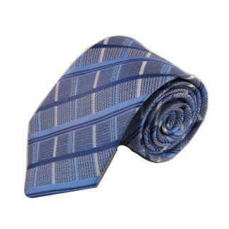 Light Blue, Silver Plaid Men's Tie 1661