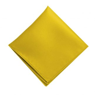 Solid Gold Pocket Square 185