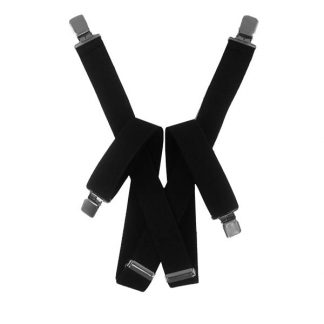 Solid Black Suspenders 2039