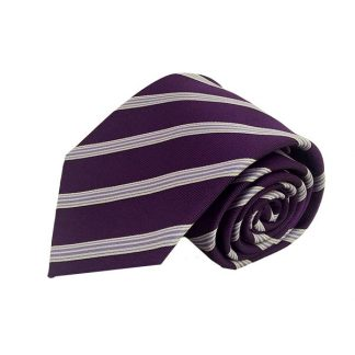 Purple & Lavender Stripe Men's Tie 2268