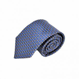 Royal & Charcoal Dot Pattern Men's Tie 3496-0