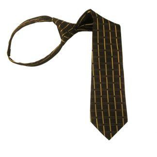 "14"" Brown & Taupe Criss Cross Zipper Tie 3904"