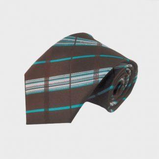 Charcoal & Lavender Plaid Skinny Men's Tie 4608-0