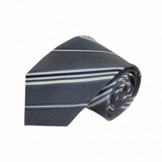 "63"" XL Charcoal & Gray Stripe Men's Tie 4707-0"