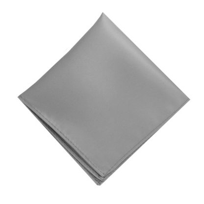 Solid Light Gray Pocket Square 5083