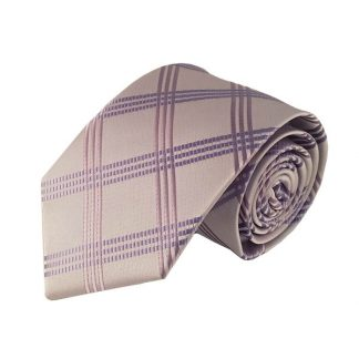 Lavender Criss Cross Pattern Men's Tie 5842