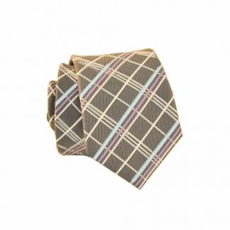 Charcoal & Lavender Plaid Skinny Men's Tie 6070-0