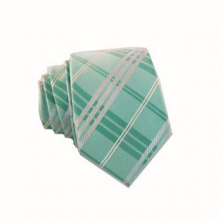 Aqua Plaid Skinny Tie