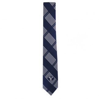 BYU Blue & Gray Plaid Skinny Men's Tie 7677