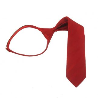 "14"" Solid Red Tone on Stripe Zipper Tie 9106"