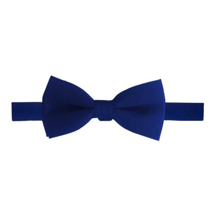 Solid Royal Banded Bow Tie 9109