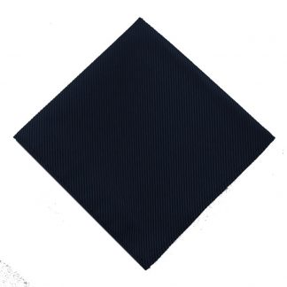 Solid Navy Tone on Tone Pocket Square 9394