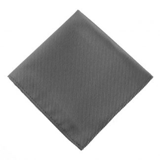 Solid Charcoal Tone on Tone Pocket Square 9536