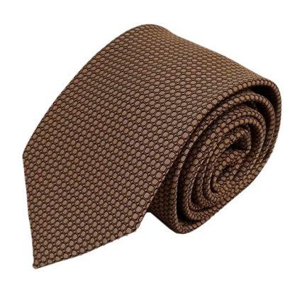 Taupe& BlackSmall Square Pattern Men's Tie 10746