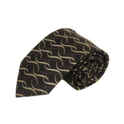 Brown, Taupe Twist Pattern Men's Tie